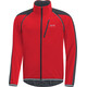 GORE WEAR C3 Phantom Windstopper Zip-Off Jacket Men red/black